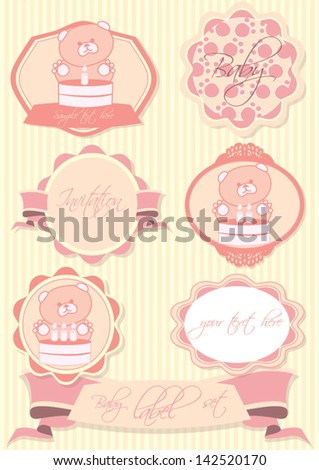 cute baby frames label set stock vector 142520170 shutterstock