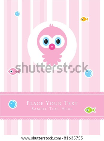 cute baby octopus greeting card