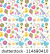 cute baby pattern design. vector illustration - stock vector