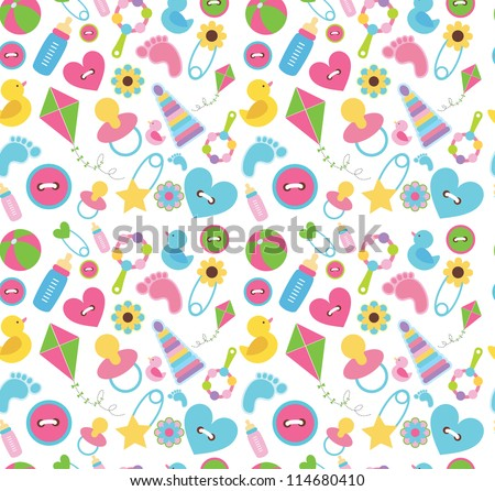 cute baby pattern design. vector illustration - stock vector