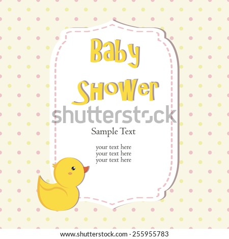 cute baby shower design. duck on pink background.
