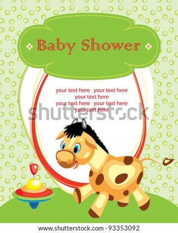cute baby shower design. vector illustration