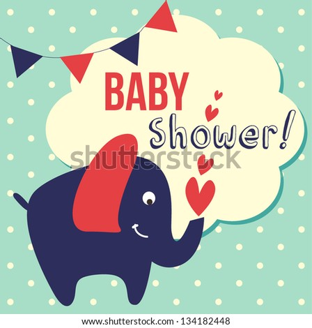 cute baby shower. vector illustration - stock vector