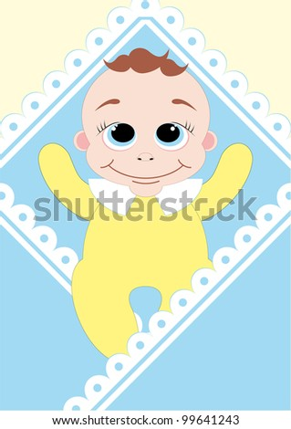 cute baby shower. vector illustration