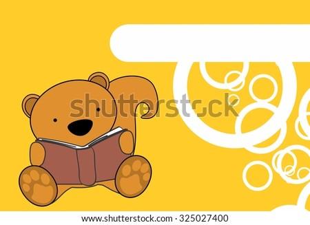 cute baby squirrel reading cartoon in vector format very easy to edit - stock vector