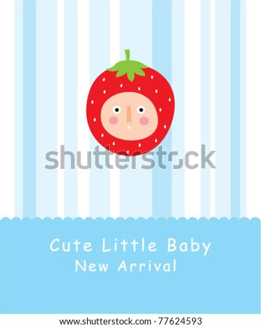 cute baby strawberry greeting card