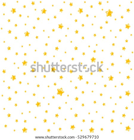 Cute background for kids - bright stars on clear sky. Seamless vector pattern.