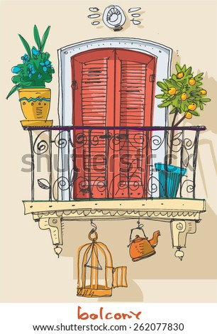 Balcony stock photos images pictures shutterstock for Balcony clipart