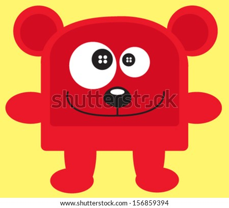 cute bear vector - stock vector