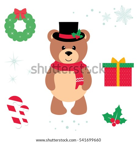 cute bear vector cartoon illustration