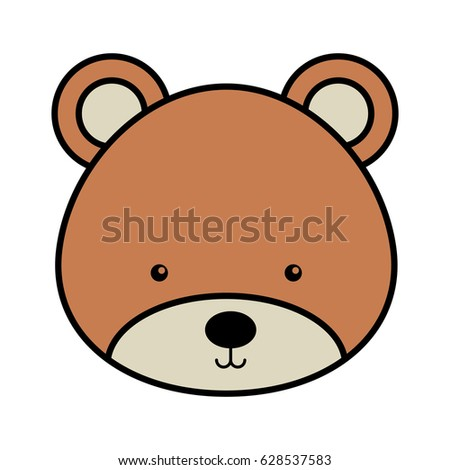 cute bear woodland icon