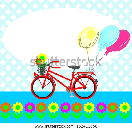 cute bike - stock vector