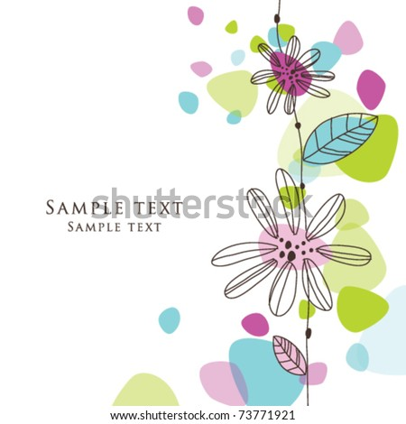 Cute birthday greeting card stylish colorful stock vector royalty cute birthday greeting card with stylish colorful shaped background simple hand drawn unique design for greeting m4hsunfo