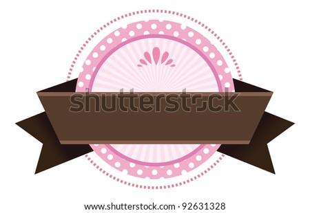 Cute Blank Banner Emblem