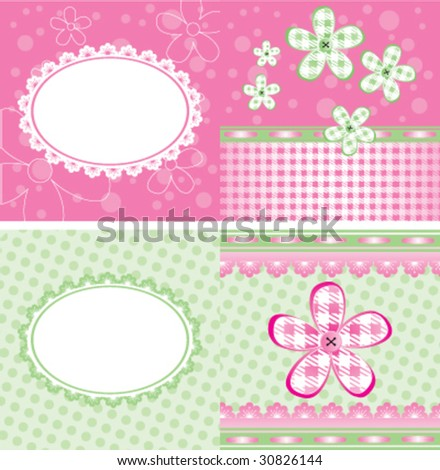 Cute brochure - stock vector