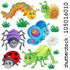 Cute bugs collection 1 - vector illustration. - stock vector