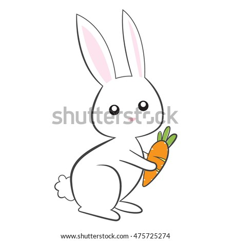 cute bunny on white background
