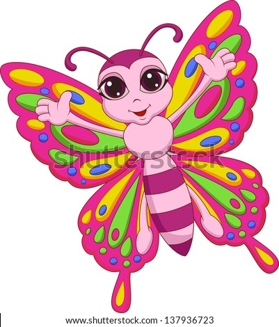 Butterfly cartoon stock images royalty free images vectors cute butterfly cartoon voltagebd Images