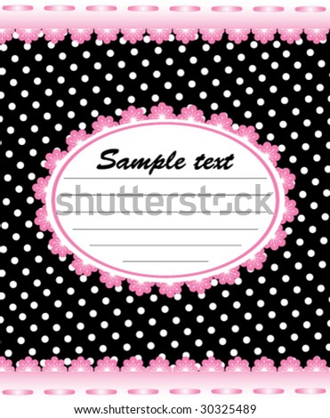 cute card - stock vector