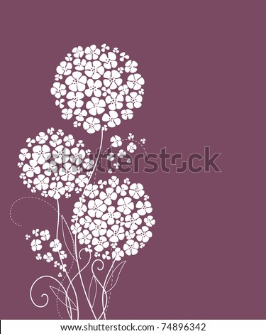 cute card with flowers - stock vector