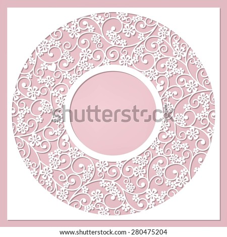 cute card with flowers and heard - stock vector
