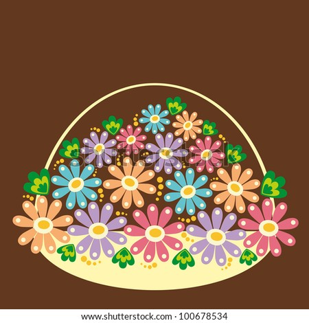 cute card with flowers. vector illustration