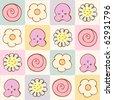 cute cartoon baby seamless pattern.Vector illustration - stock vector