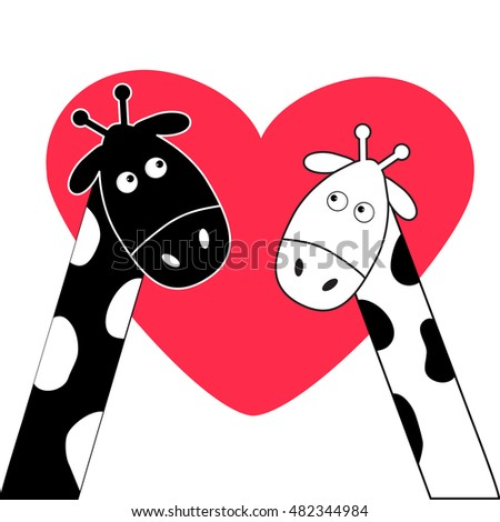 Cute Couple Cartoon Black And White Little Couple Cartoon ...