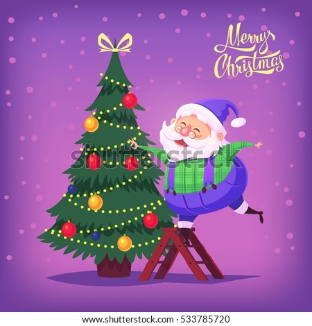 Cute cartoon christmas santa - photo#39