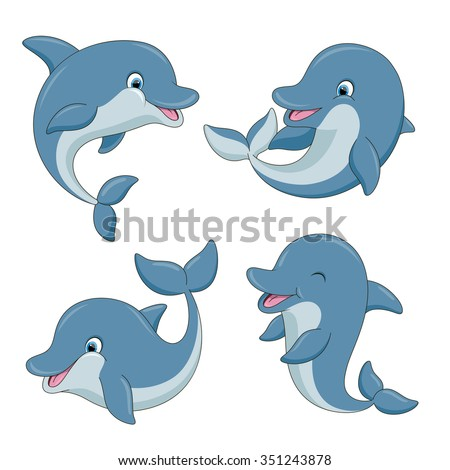 Cartoon Dolphin Stock Images, Royalty-Free Images ...