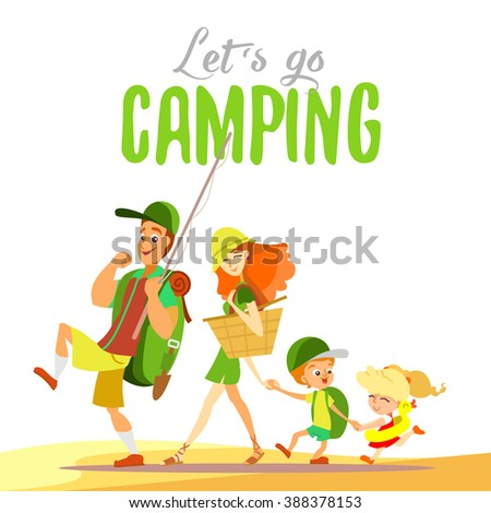 Family Camping Stock Images Royalty Free Images Vectors