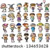 Cute cartoon kids - stock vector