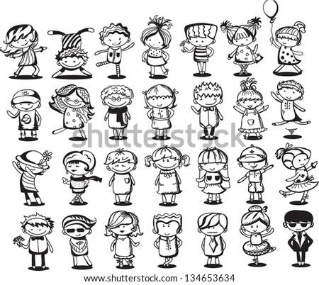 cute cartoon kids - Cartoon Kid Images