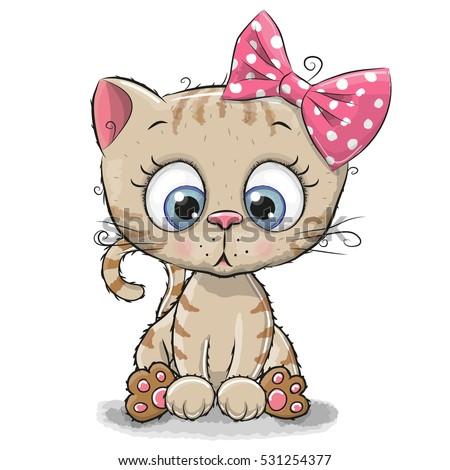 how to draw a cute cartoon kitten