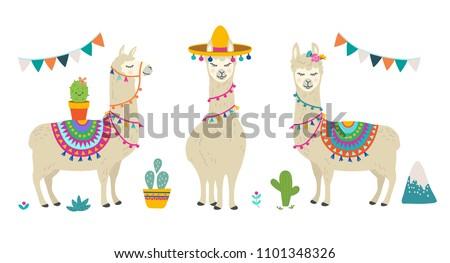 how to draw a cute cartoon llama
