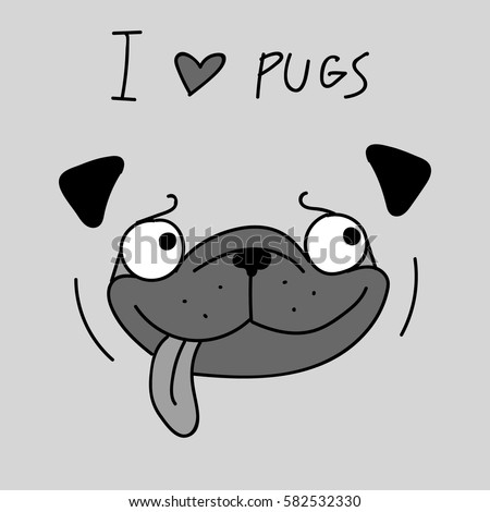 Cute Dog Cartoon Black And White