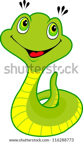 Cute cartoon snake