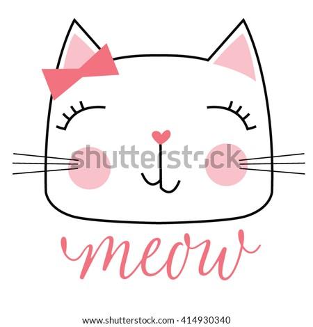cute cat - stock vector
