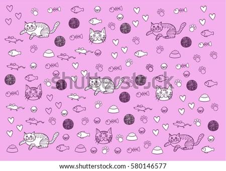 cat doodle stock images royaltyfree images amp vectors