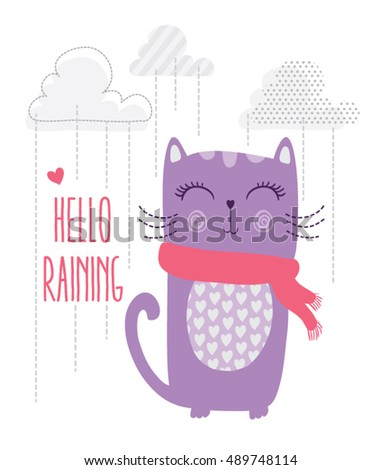 cute cat vector,T-shirt Print,i love you,Valentine's Day,animal print,cute poster,Embroidery cartoon character,post card,Fun greeting card,Book illustrations for children,Romantic hand drawing poster