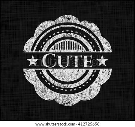 Cute chalk emblem written on a blackboard - stock vector