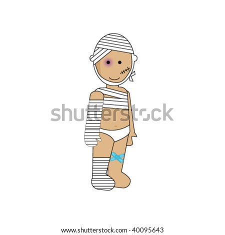 CUTE CHILD IN COSTUME ILLUSTRATION. Vector file. - stock vector