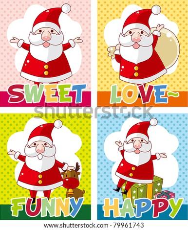 cute christmas card - stock vector