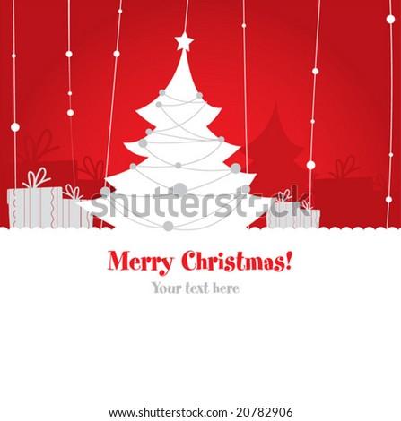 Cute christmas design. vector - stock vector