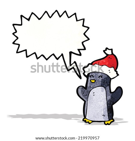 cute christmas penguin cartoon