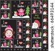 Cute Christmas Wallpaper. - stock vector