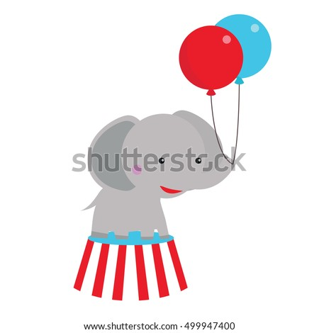 Cute Circus Elephant Clip Art For Party Fun And Theme