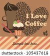 cute coffee time card. vector illustration - stock vector