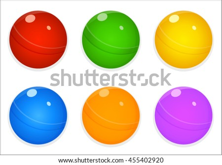 Cute colorful candies match 3 items game asset