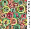 Cute colorful cartoon pattern - stock